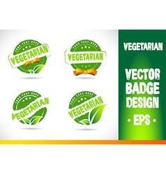 Vegetarian badge vector