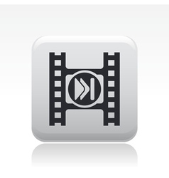 video skip button vector image vector image