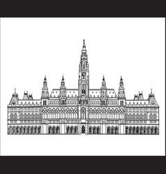Vienna city famous landmark city hall palace vector