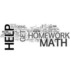 homework vector images over  where can you get math homework help text word vector