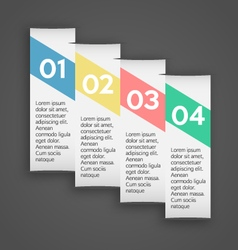 Coloured banner template vector