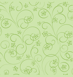 Light green floral background - seamless pattern vector