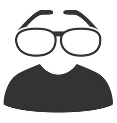 Clever spectacles icon vector