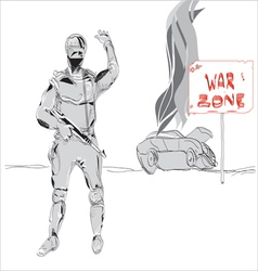War zone vector