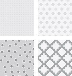 Grey flower backgrounds vector