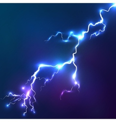 Blue shining lightnings background vector