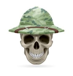 Hat skull vector image
