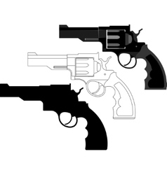 Revolver gun weapon - vector