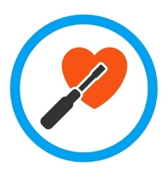 Heart tuning rounded icon vector