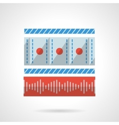 Media player flat color design icon vector