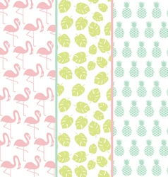 Set of exotic patterns or background in pastel col vector