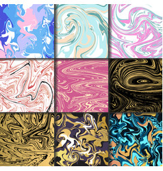 Abstract backgrounds ink marbling textures hand vector