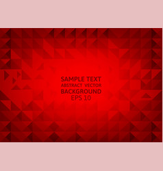 Abstract red geometric triangle background with vector