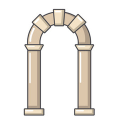 Archway ancient icon cartoon style vector