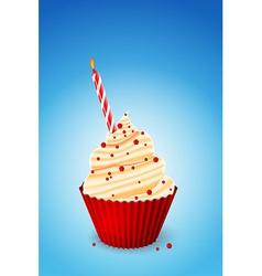 Birthday cupcake vector