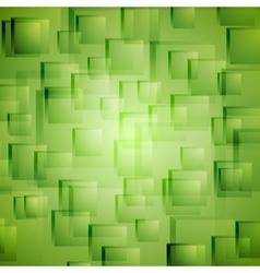 Bright green geometric background vector