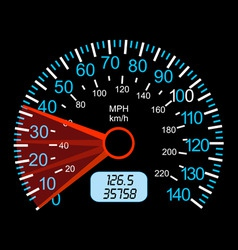 car speedometer vector image