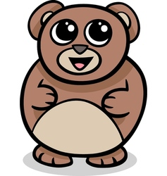 cartoon kawaii bear vector image