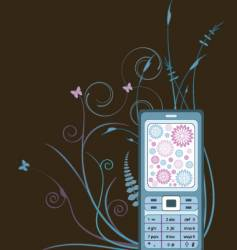 cellphone graphic vector image vector image
