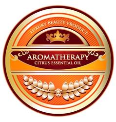 Citrus essential oil aromatherapy label vector