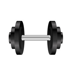 Colorful silhouette with dumbbell for training in vector