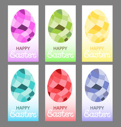 easter eggs in a polygonal style vector image vector image