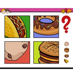 Educational activity with food objects vector