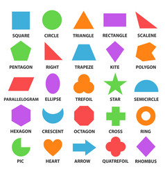 educational geometric shapes set vector image