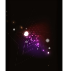 Glowing star in dark space vector image vector image