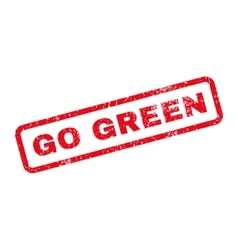Go green text rubber stamp vector