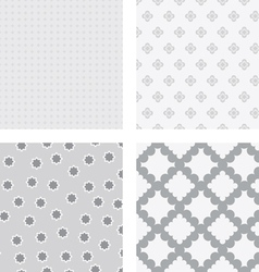 Grey flower backgrounds vector