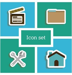Icon set design vector image