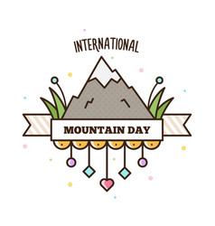international mountain day vector image vector image