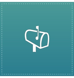 Mailbox flat icon vector image vector image