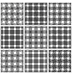 Netting geometric seamless patterns vector image vector image