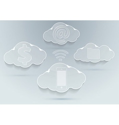 New technologies - cloud computing advantages vector