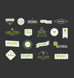 organic labels set collection various logo for vector image vector image