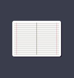 Paper sticker on stylish background school vector