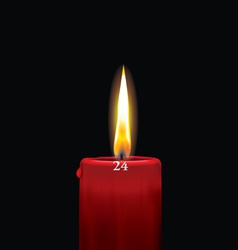 Red advent candle - december 24th vector