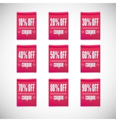 Sale clothing labels set of discounts vector image