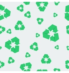 Seamless pattern with recycle icon vector image vector image