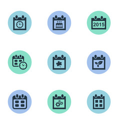 Set of simple date icons vector