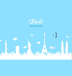 Travel on the world at holiday vector