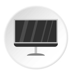 Tv icon circle vector