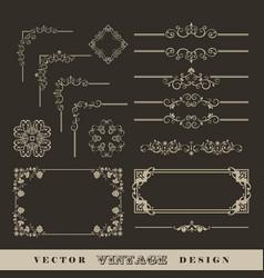 Vintage frame border vector