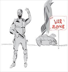 War zone vector