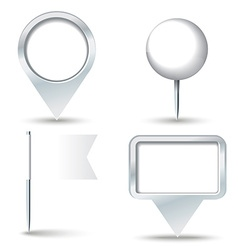 White map pins vector image