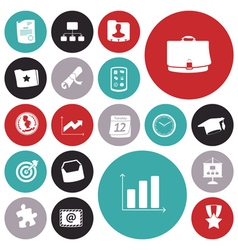 icons for business and banking vector image