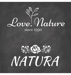 Set of logo elements with natural motifs vector