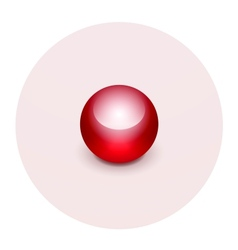 Sphere map pointer icon vector image